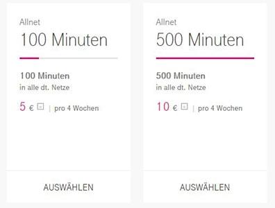 Telekom mit zwei neuen Allnet Tarifoptionen